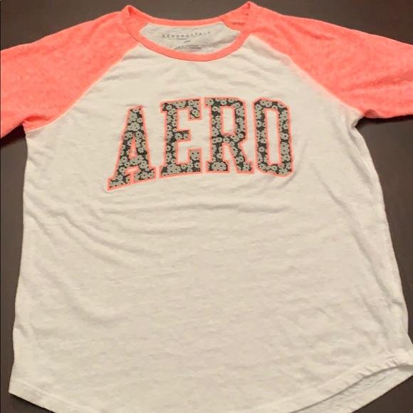 Aeropostale Womens Floral Raglan Graphic T-Shirt